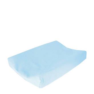 wafel aankleedkussenhoes lichtblauw