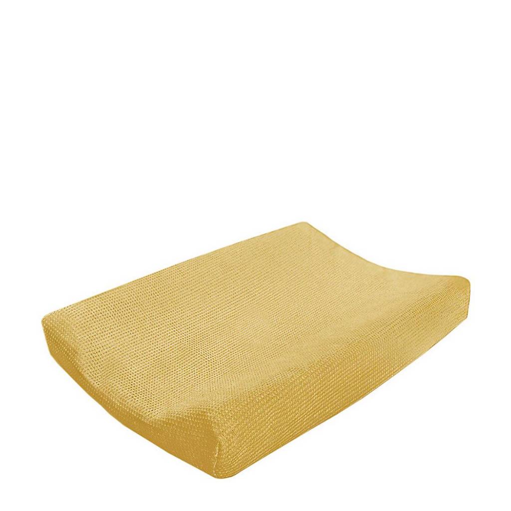 Cottonbaby wafel aankleedkussenhoes oker, Oker