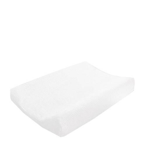 Cottonbaby wafel aankleedkussenhoes wit