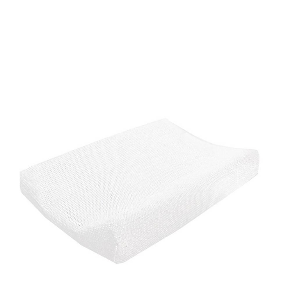 Cottonbaby wafel aankleedkussenhoes wit, Wit