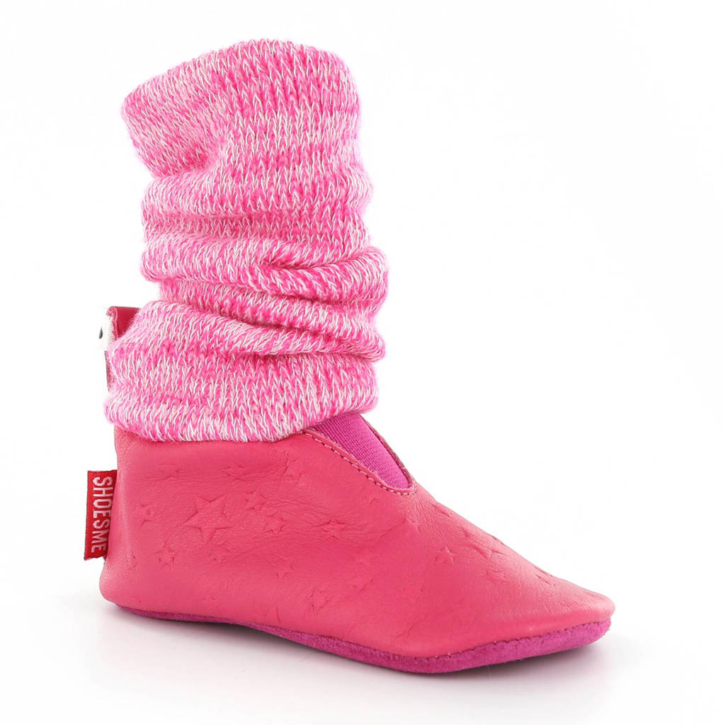 Shoesme leren babyslofjes, Roze