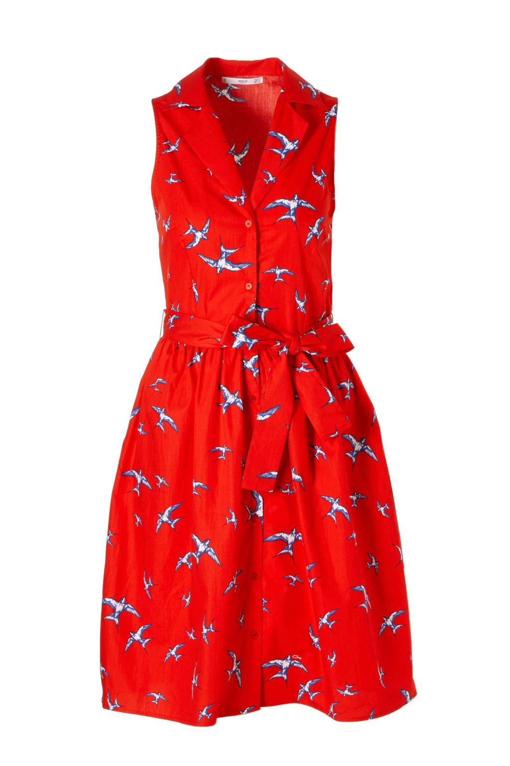 Mango jurk, Rood/blauw