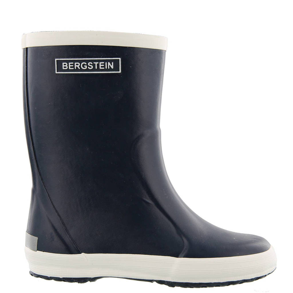 Bergstein   regenlaarzen kids, Donkerblauw/wit