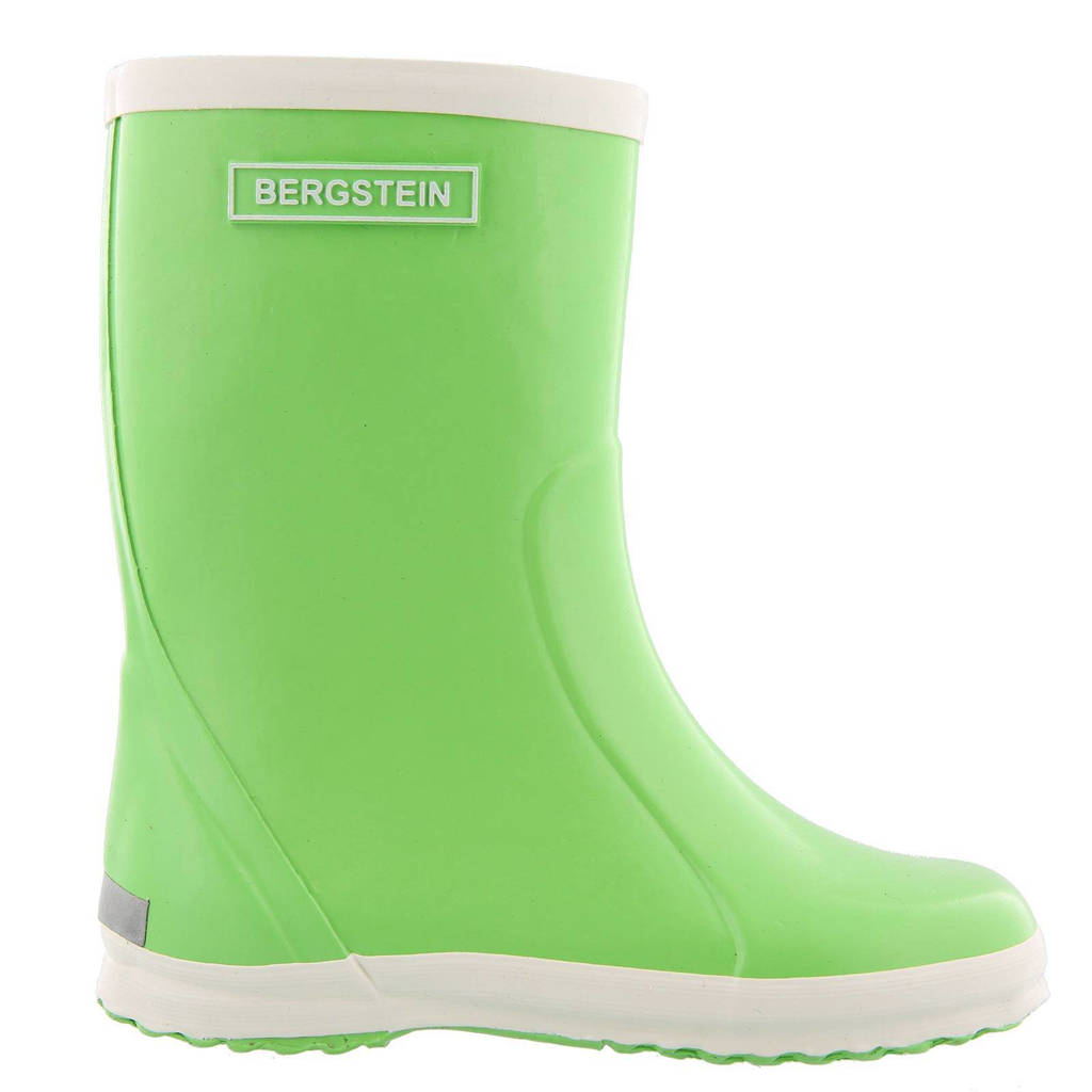 Bergstein   regenlaarzen kids, Limegroen/wit