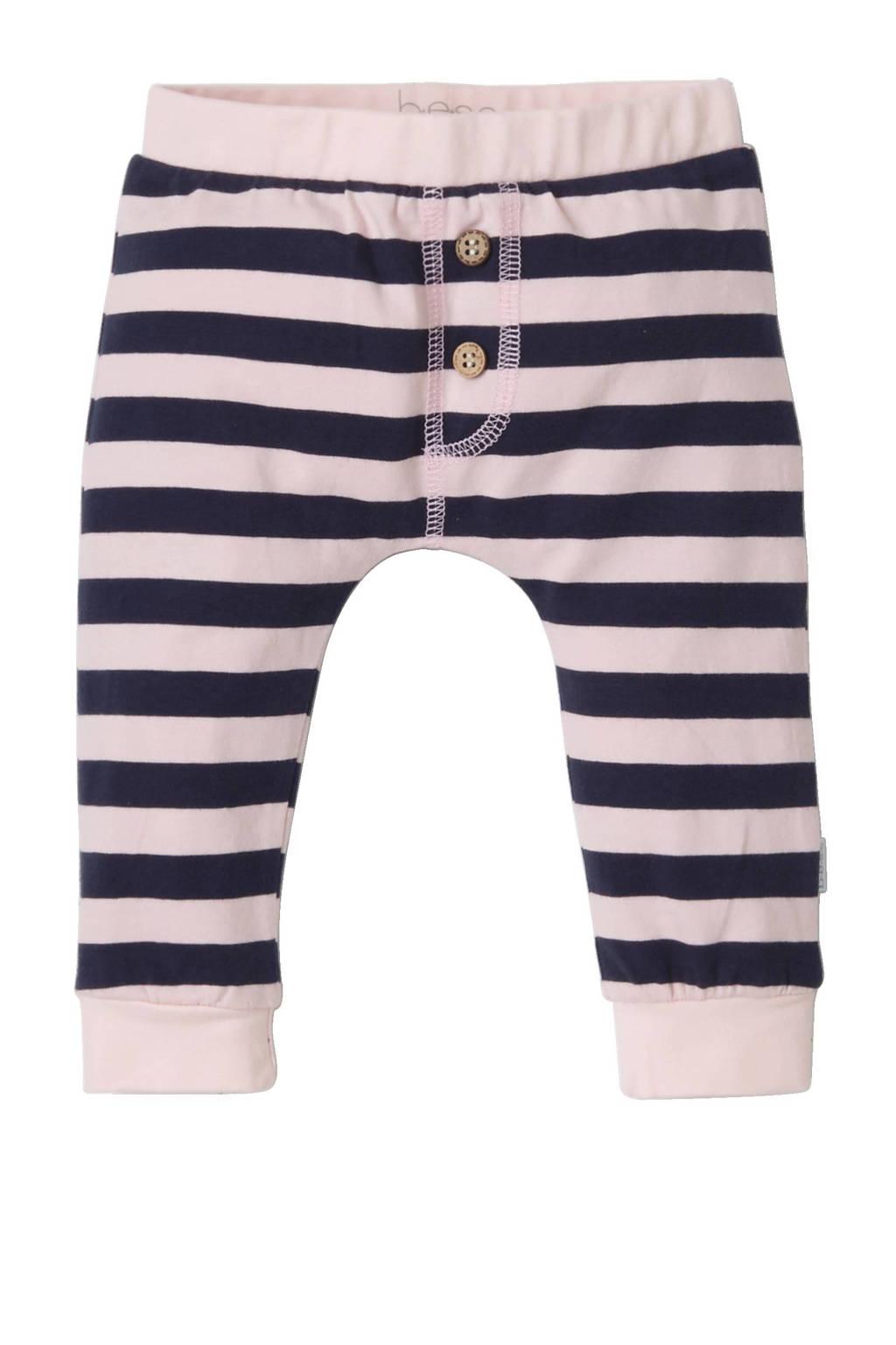 B.E.S.S baby sweatpants, Roze/donkerblauw