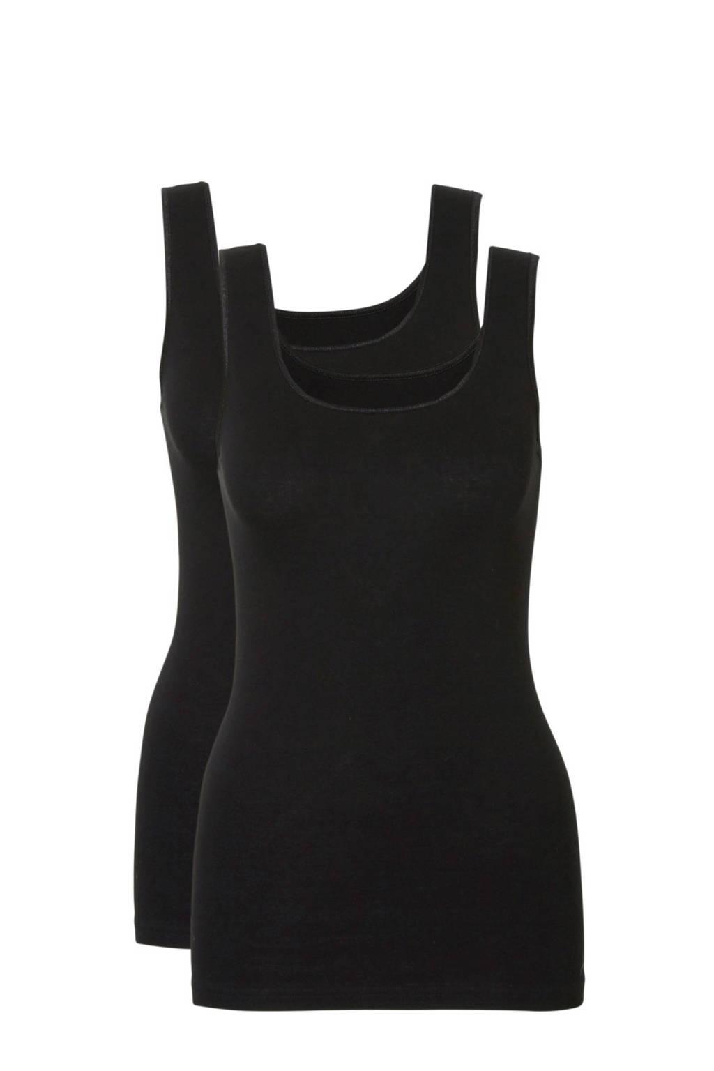 ten Cate hemd (set van 2) zwart, Zwart