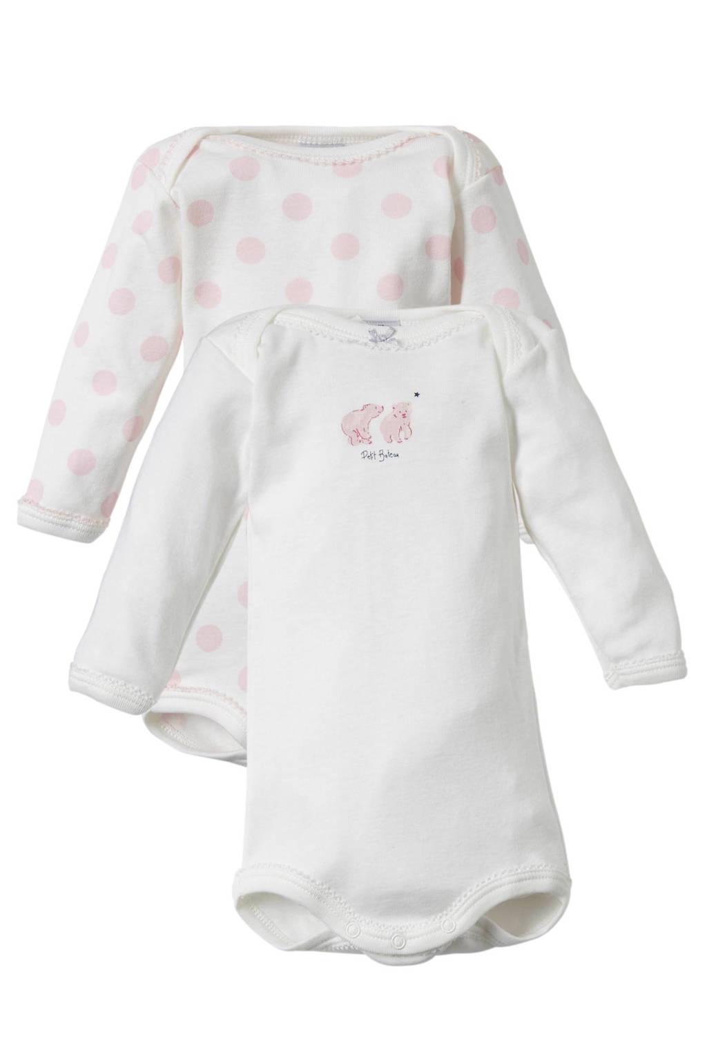 Babykamer Bateau Wit.Petit Bateau Baby Romper Set Van 2 Wehkamp