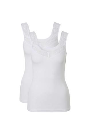 hemd met kant (set van 2) wit