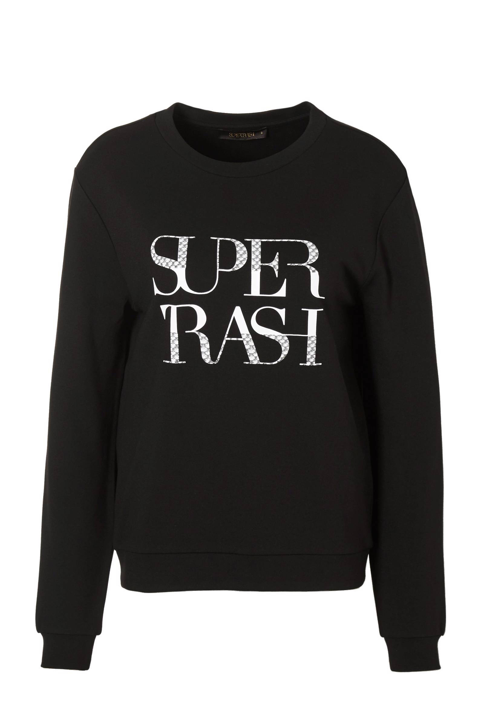 TOPPER Zwarte basic Supertrash sweater SuperTrash