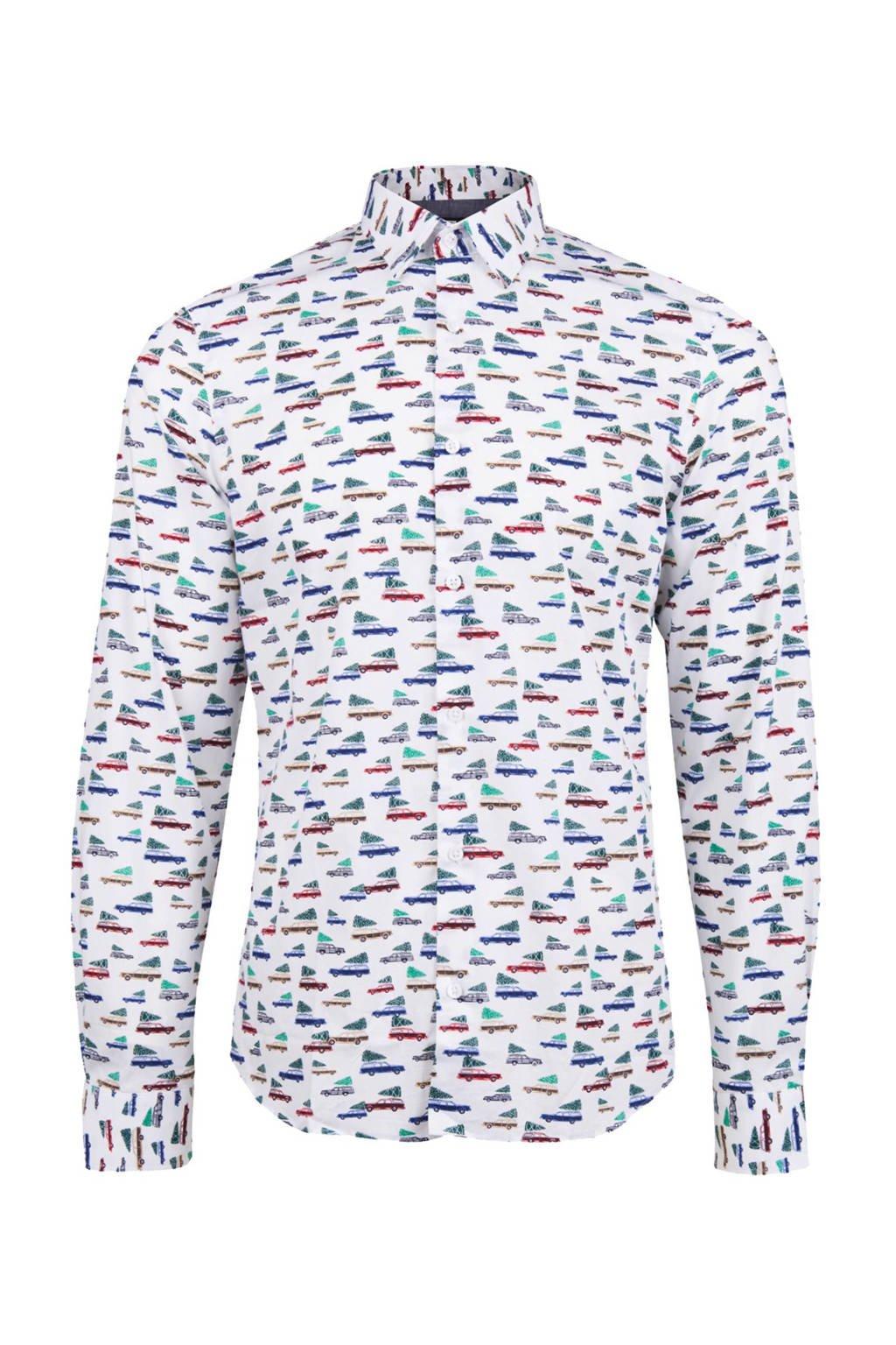 Overhemd Kerst.We Fashion Slim Fit Kerst Overhemd Wehkamp
