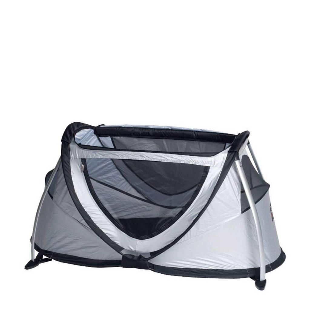 Deryan Peuter Campingbedje.Deryan Travel Cot Peuterbox Campingbed Zilver Wehkamp