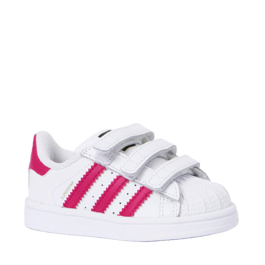 7a682051f51 adidas originals Superstar Foundation CF I sneakers, Wit/roze