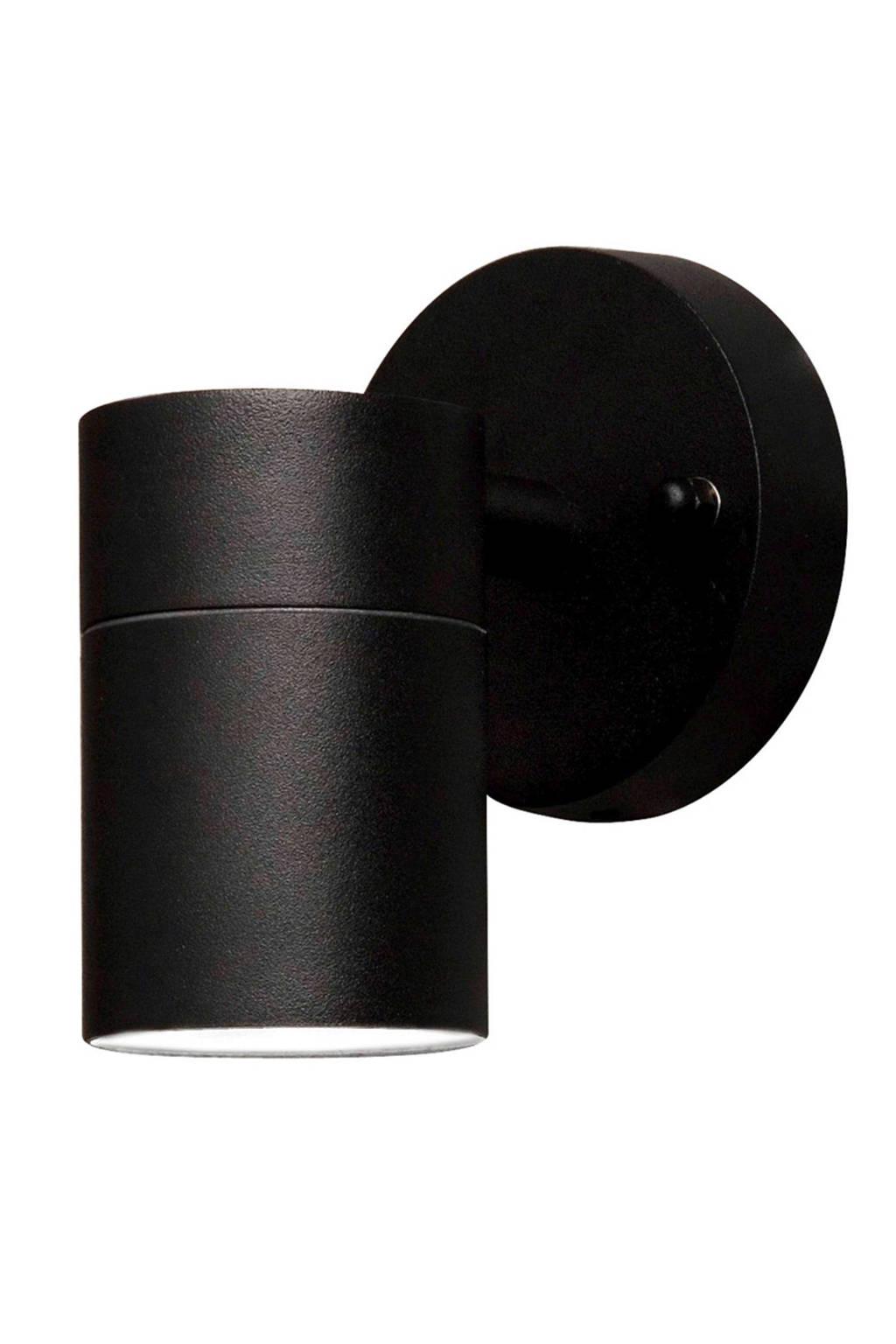 Konstsmide wandlamp, Matzwart, 6x9x9 cm