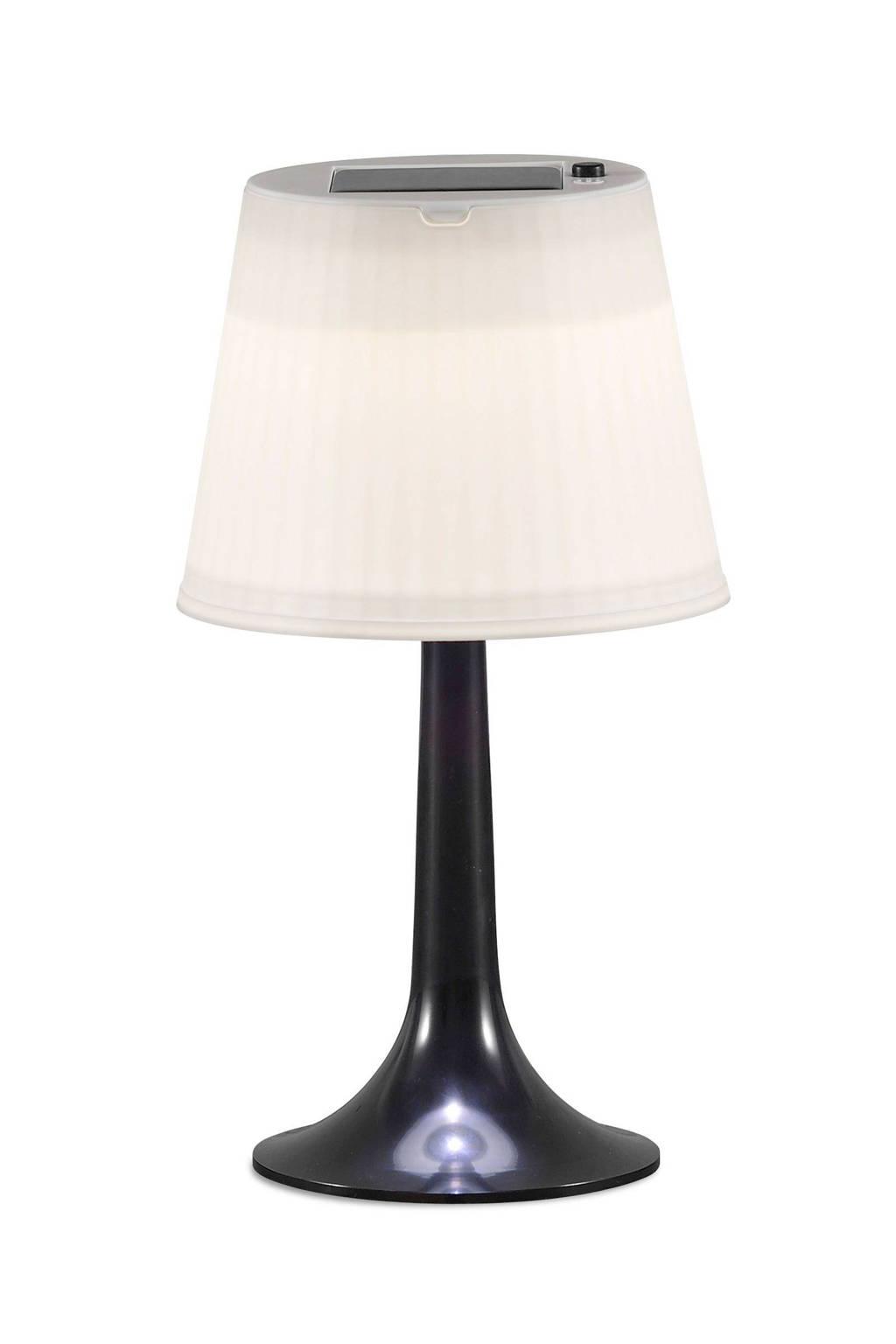 Konstsmide tafellamp (solar), Zwart, wit