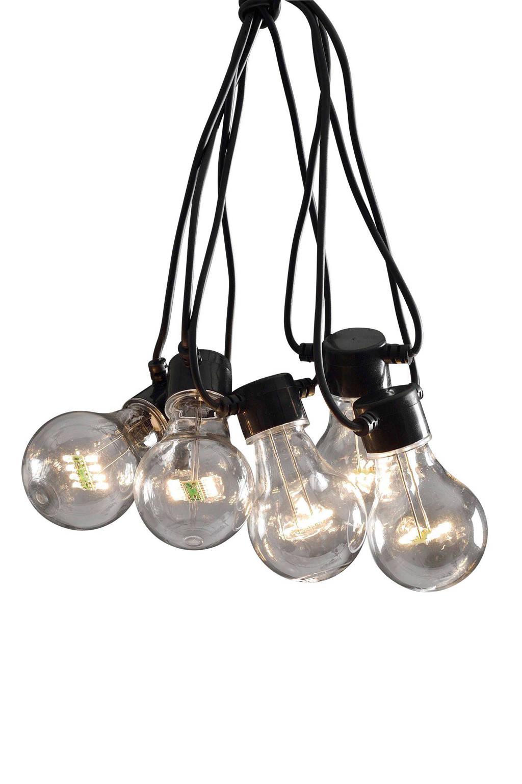 Konstsmide 24V lichtsnoer (10 lampen), 14,5 m, Transparant, zwart