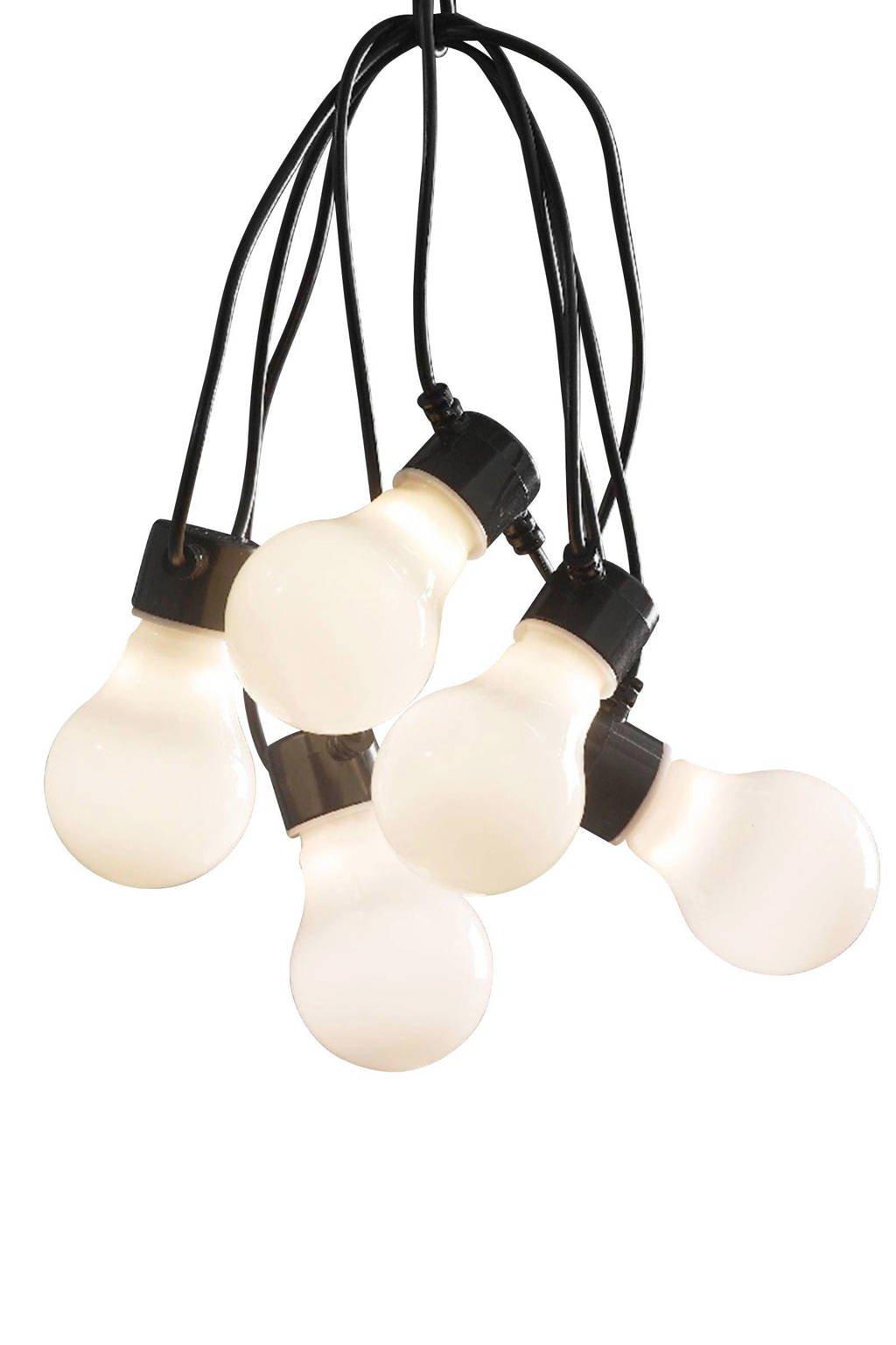 Konstsmide 24V lichtsnoer (10 lampen), 14.5 m, Opaal, zwart