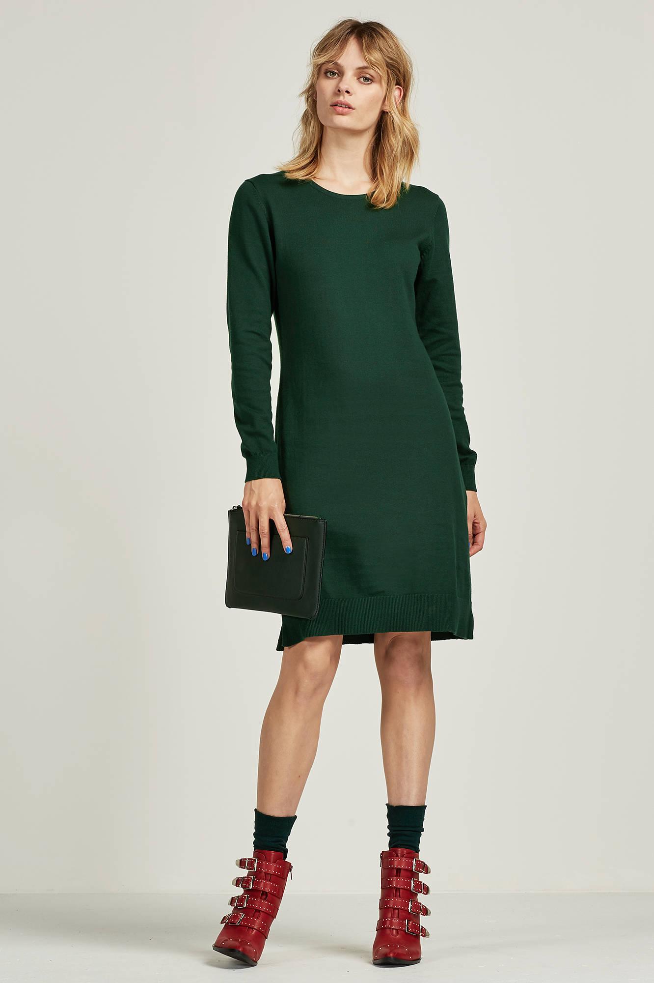 vila gebreide jurk