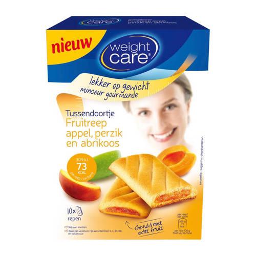 Weight Care tussendoortje fruitreep appel, perzik en abrikoos - 1 doos met 10 stuks