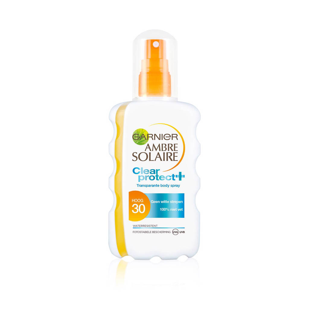 Ambre Solaire clear protect zonnebrand SPF 30 - 200 ml, Zonnefactor SPF 30