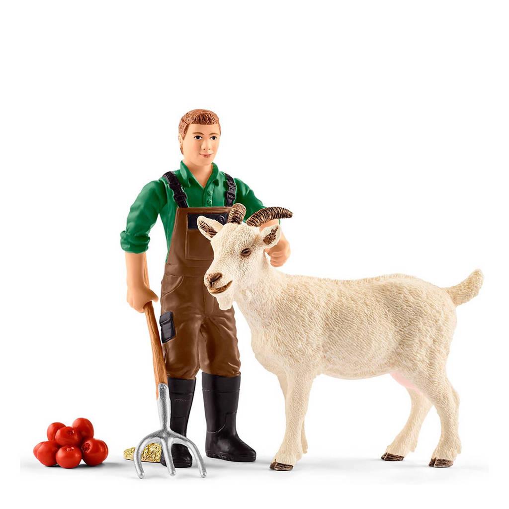Schleich Farm World boer met geit