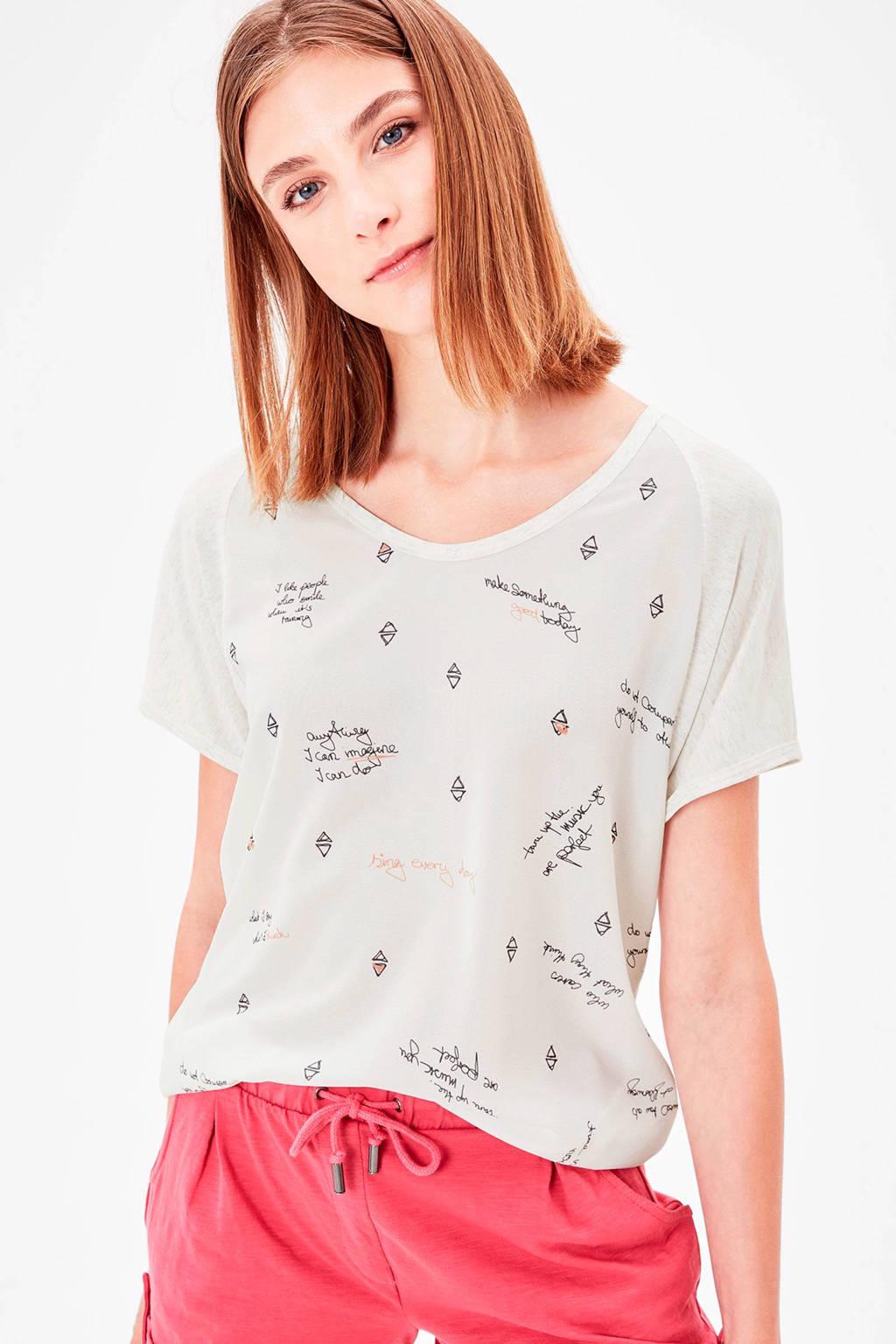 s.Oliver T-shirt, Ecru