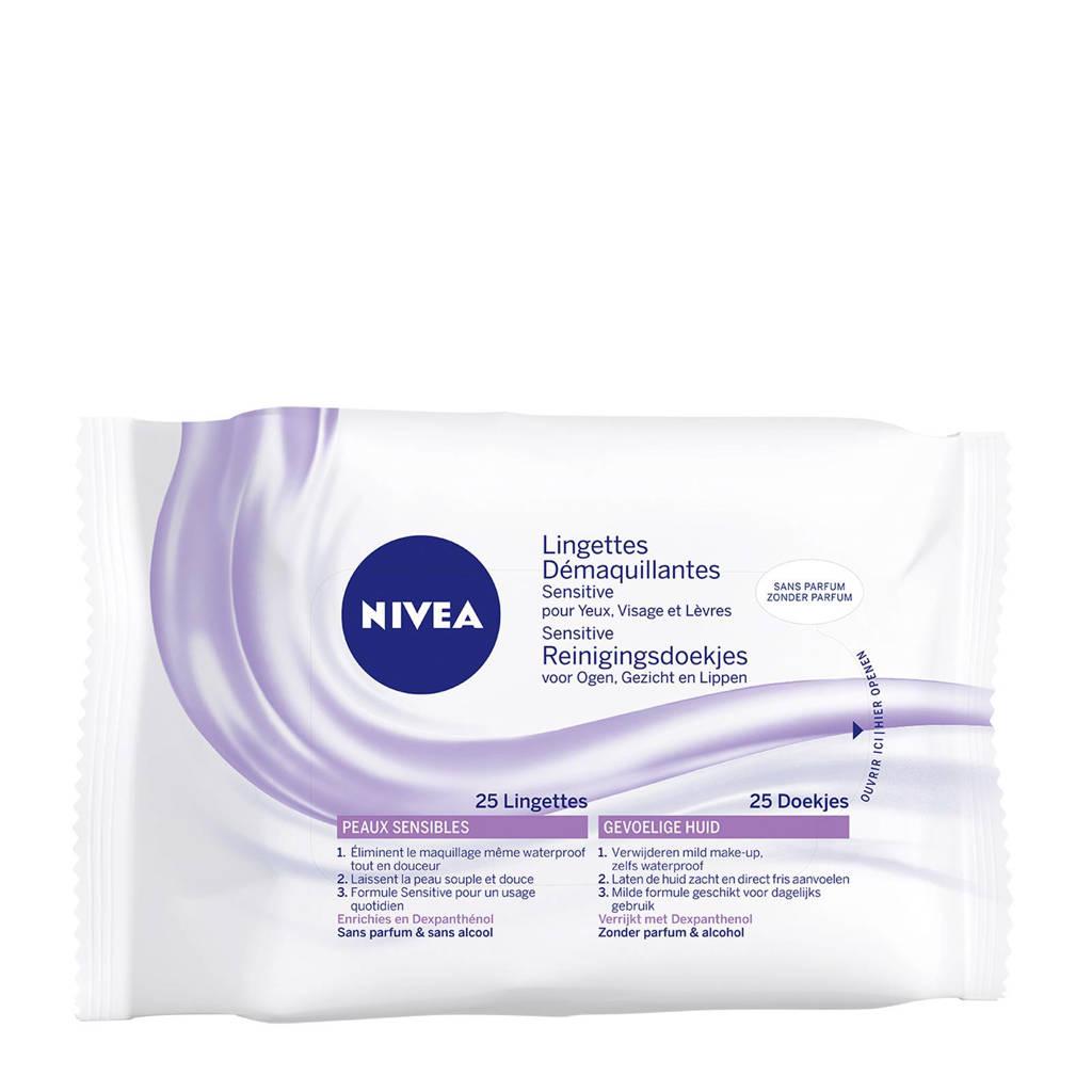 NIVEA Sensitive reinigingsdoekjes - 25 stuks, Alle huidtypen