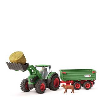 Farm World tractor met aanhangwagen 42379