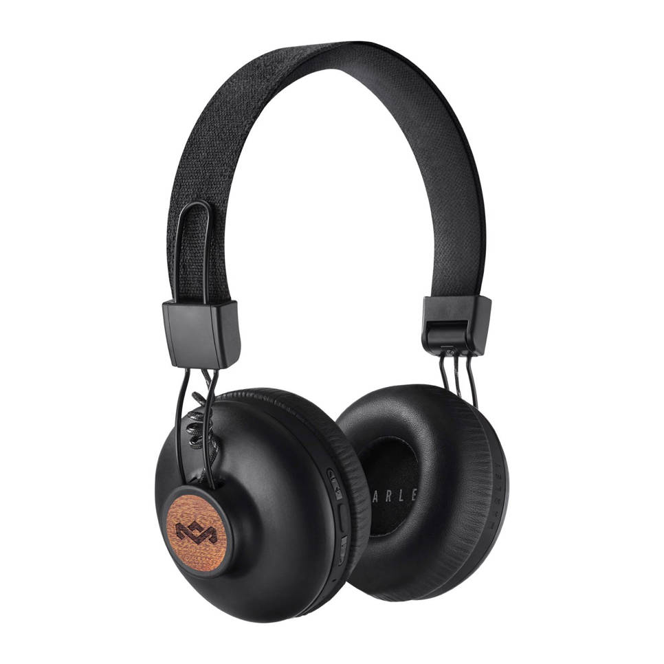 House of Marley Positive Vibration BT on-ear bluetooth koptelefoon zwart, Zwart