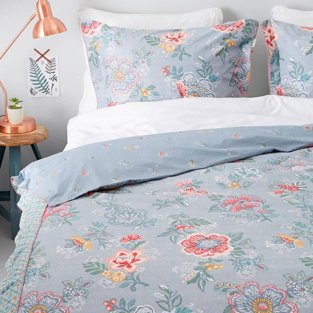 Pip Studio perkalkatoenen dekbedovertrek 2 pers., 2 persoons (200 cm breed), Blauw