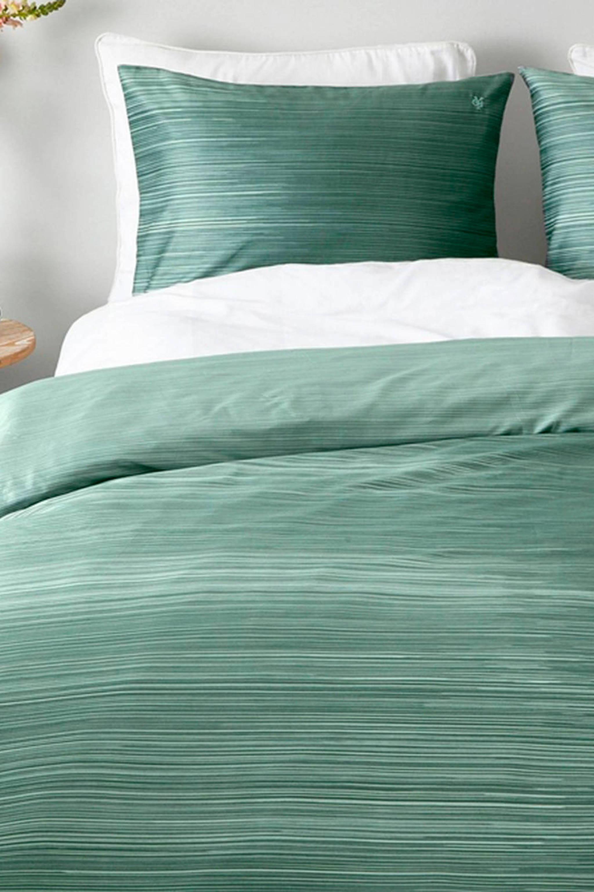 marc o polo home katoensatijnen dekbedovertrek 2 persoons groen