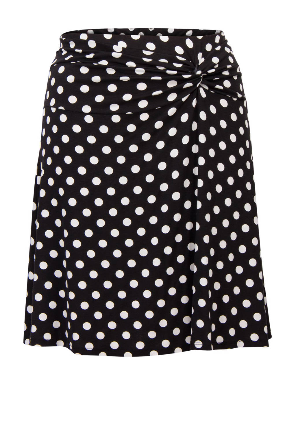 Miss Etam Plus A-lijn rok, Zwart/wit