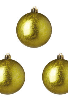 Kerstballen (Ø8 cm) (set van 3)