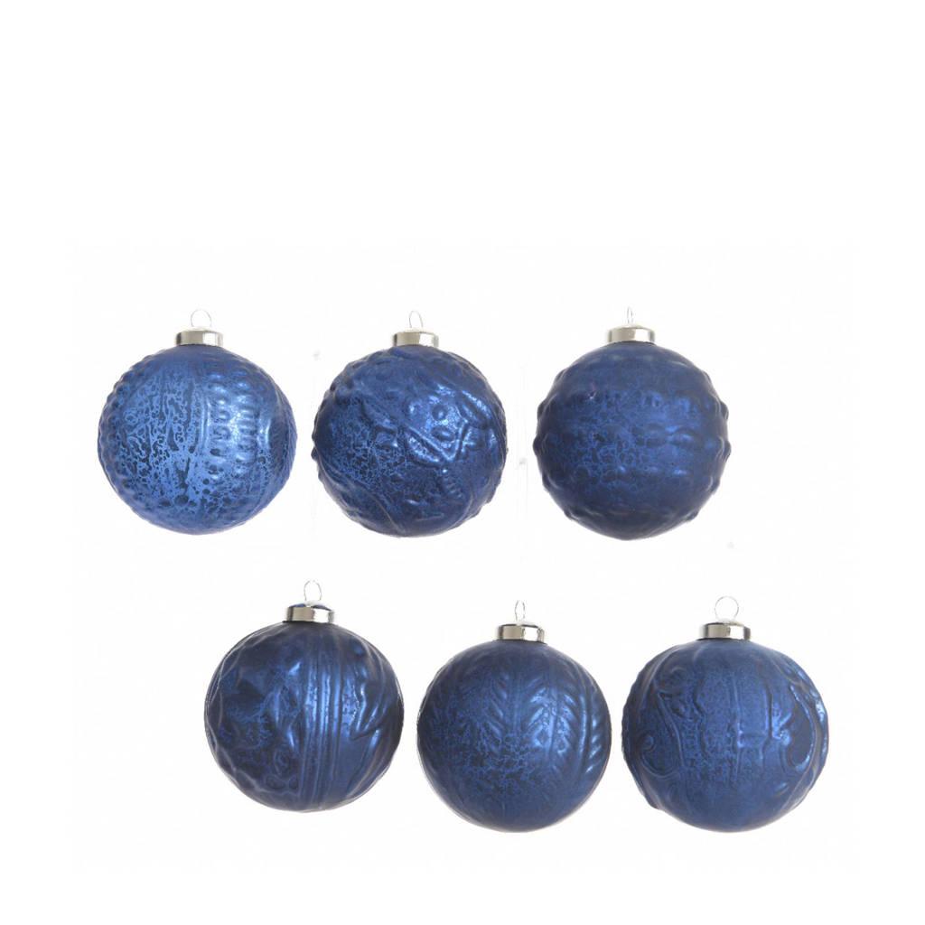 Kaemingk Glazen Kerstballen O6 Cm Set Van 6 Wehkamp