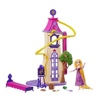 Princess  Rapunzel zwaaiende lokken kasteel
