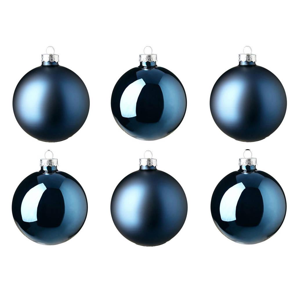 Decoris Glazen Kerstballen O8 Cm Set Van 6 Wehkamp