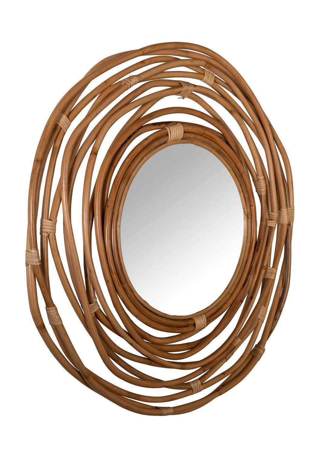 Dutchbone Kubu spiegel, Bruin