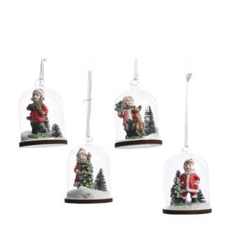 kersthangers sneeuwbol (Ø5 cm) (set van 4)