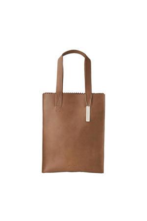 MY PAPER BAG Long handle zip leren tas