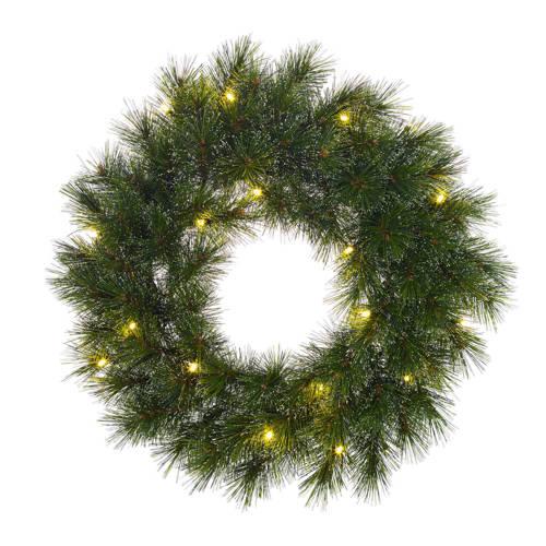 Krans LED b-o Glendon d35 cm groen
