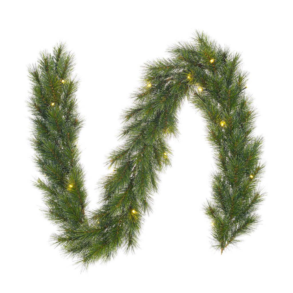 Black Box kerst guirlande Glendon LED (180 cm), Groen met een witte kern