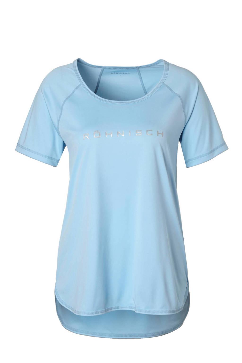 Rohnisch sport T-shirt, Lichtblauw/Zilver