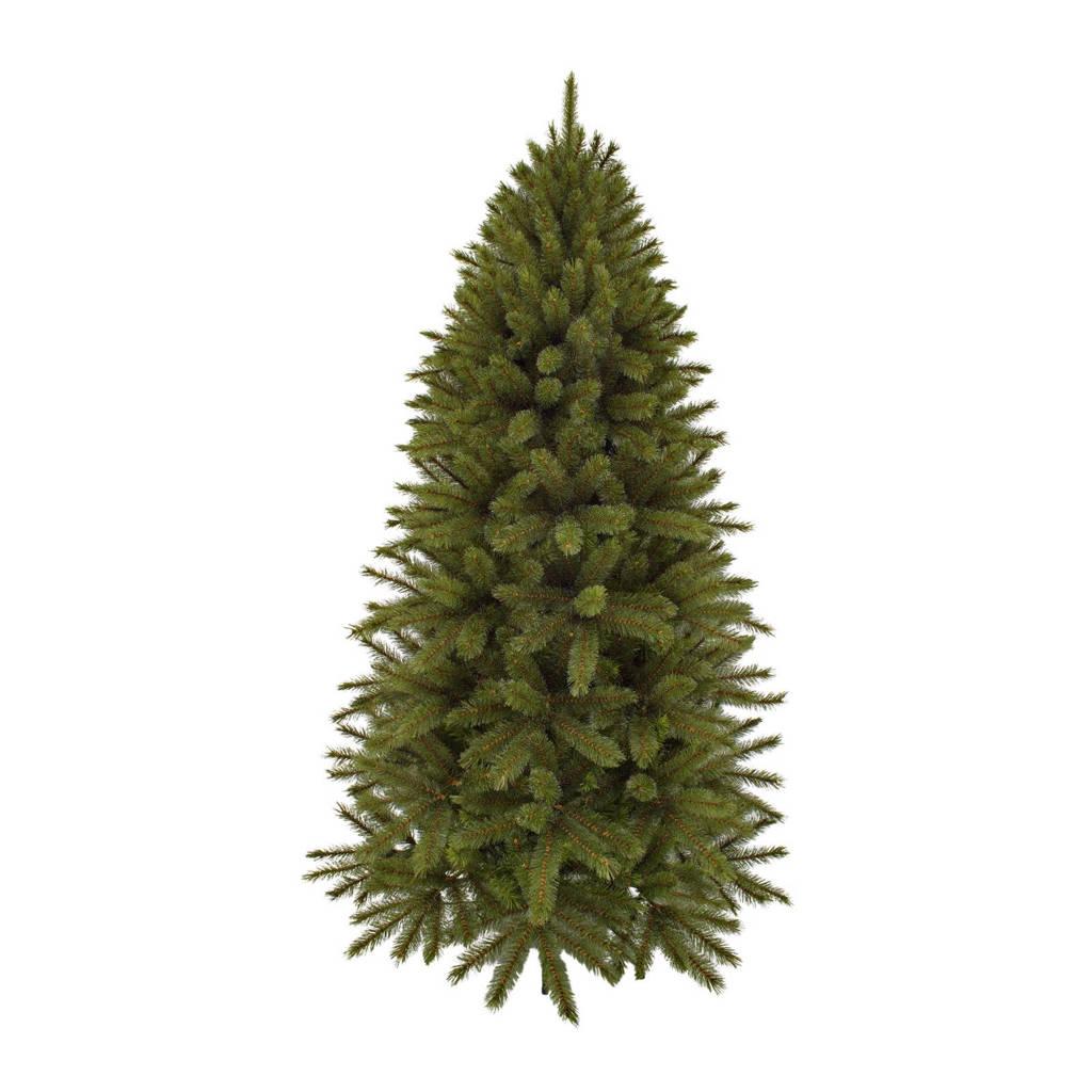 Triumph Tree halve muur kerstboom Forest Frosted Pine (h215 x ø122 cm), Groen met een witte kern