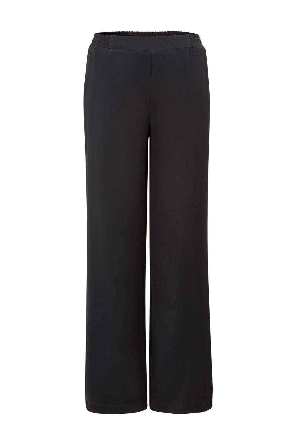Miss Etam Regulier broek met zijstreep, Zwart