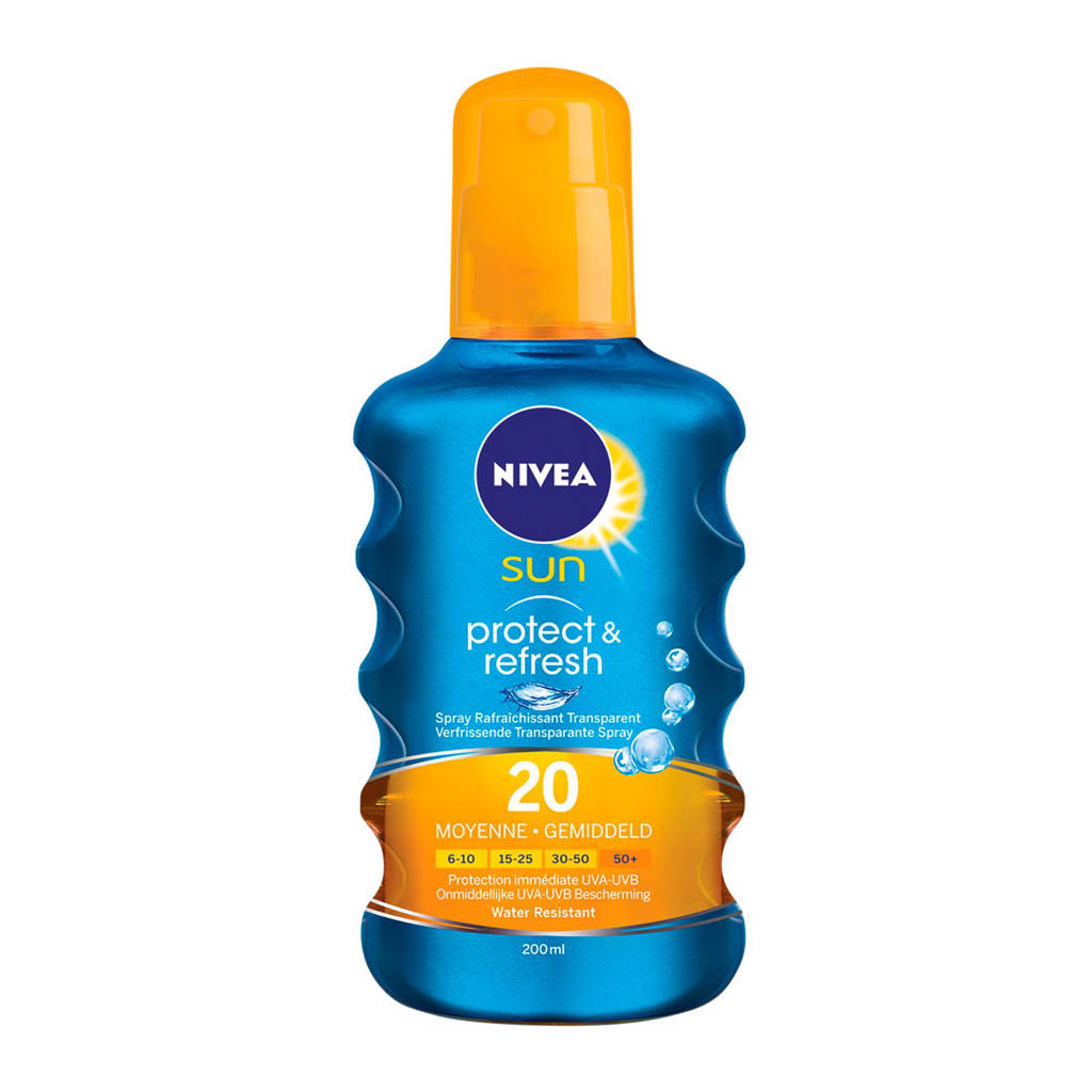 NIVEA SUN Protect & Refresh zonnebrand spray SPF 20 - 200ml, Zonnefactor SPF 20