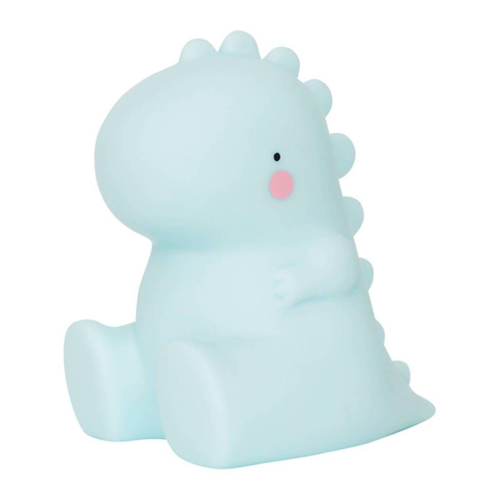 A Little Lovely Company nachtlampje T-rex, Lichtblauw