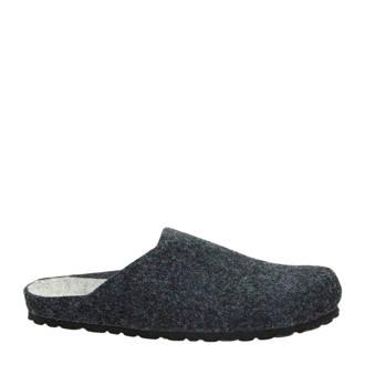 gemêleerde pantoffels antraciet