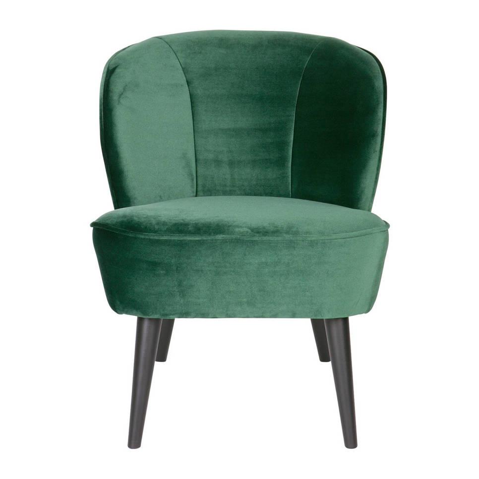 Woood fauteuil Sara velours , Flesgroen