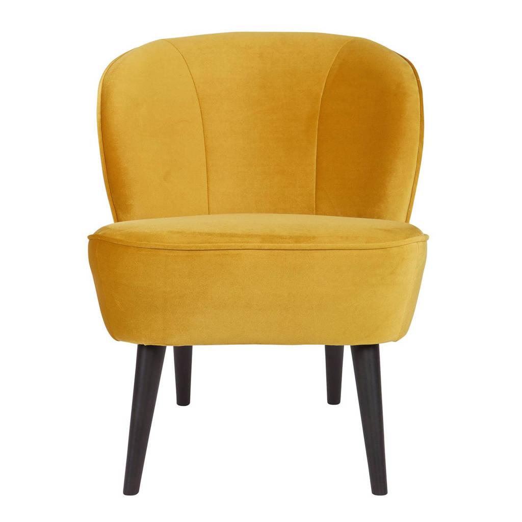 Woood fauteuil Sara velours Sara, Okergeel