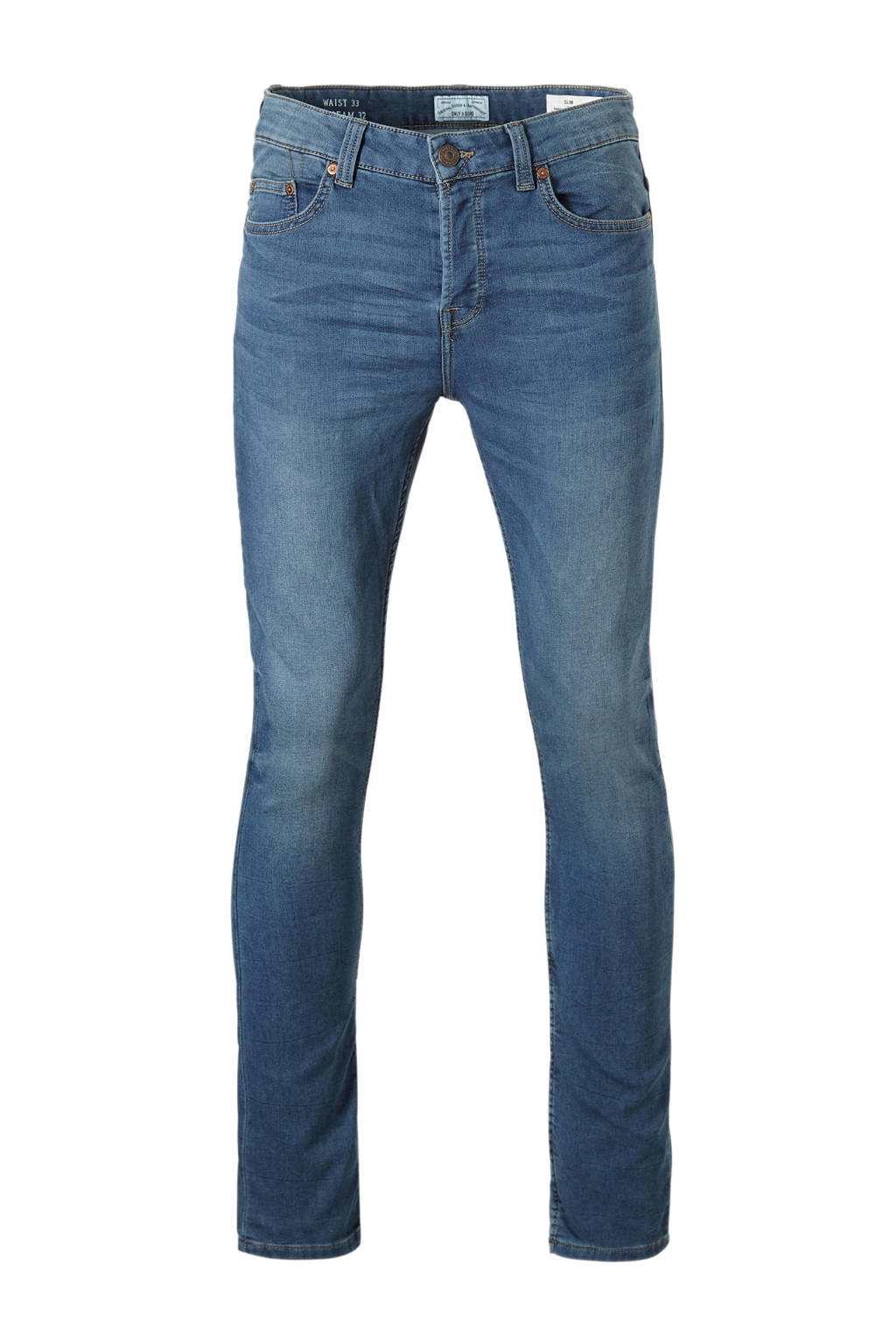 Only & Sons Loom slim fit jog denim, Blauw