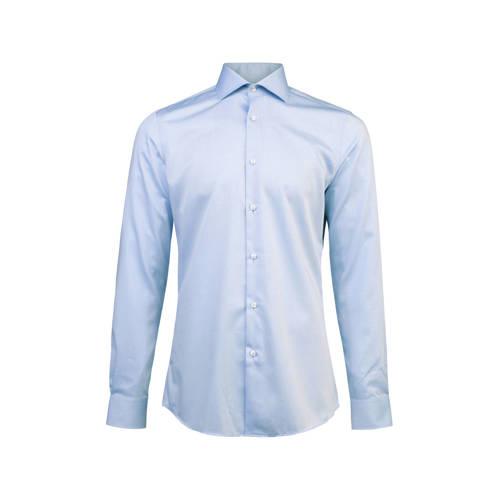 slim fit overhemd lichtblauw